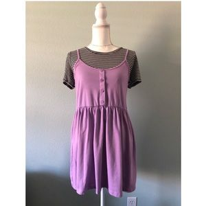 ASOS purple lavender babydoll mini dress